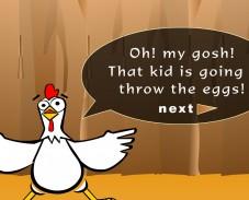 поймай яйца