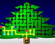 Святящаяся рождественская елка