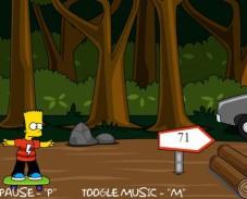 Барт Симпсон на скейтборде