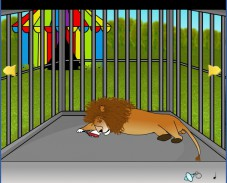 Клетка со львом