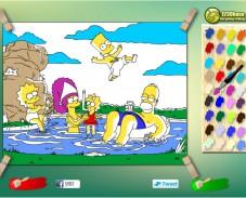 Раскраска Симпсоны на отдыхе