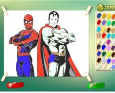 Человек Паук и Супермен