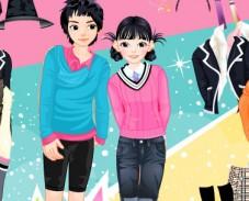 Одевалка мальчик и девочка