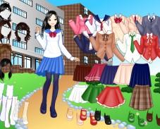 Одевалка школьница