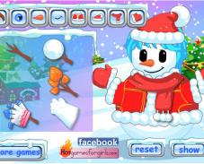 Лепить снеговика