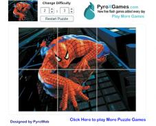Человек паук пазл
