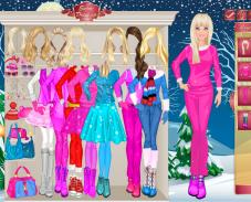 Барби зимой