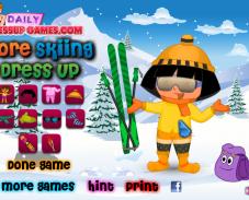 Даша на лыжах