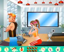 Ленивая в фитнес клубе
