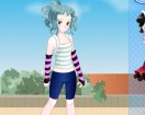 Одевалка девочка аниме