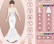 Одевалка cвадебное платье