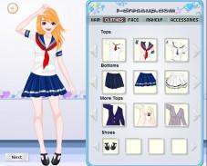 Одевалка школьники