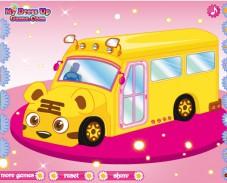 Одевалка школьный автобус