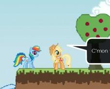 Рейнбоу-Дэш-собирает-яблоки