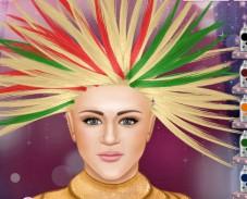 Ханна Монтана в парикмахерской