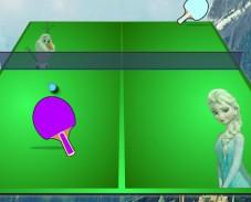 Холодное сердце Эльза и Олаф играют в теннис