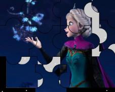 Холодное сердце Эльза и снежинки пазл