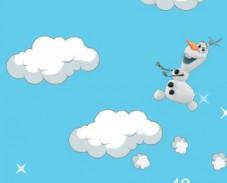 Холодное cердце  Олаф в облаках