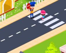 Пешеходный переход возле школы