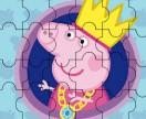 Свинка Пеппа королева пазл