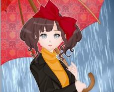 Одевалка дождливый день