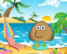 Поу на пляже