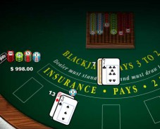Blackjack pays 3 to 2