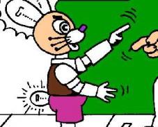 Раскраска заяц-робот