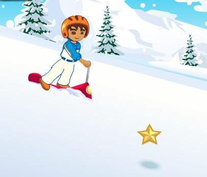 Диего на лыжном скутере