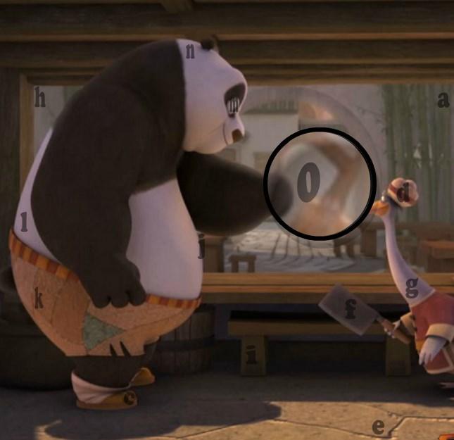 Кунг-фу Панда найди буквы