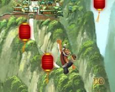 Кунг-фу Панда тигрица прыгает