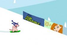 Руфус на сноуборде