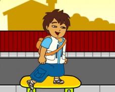 Диего догоняет автобус