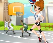 Одень баскетболистку