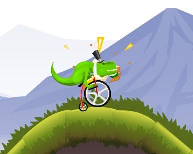 Рекс на велосипеде
