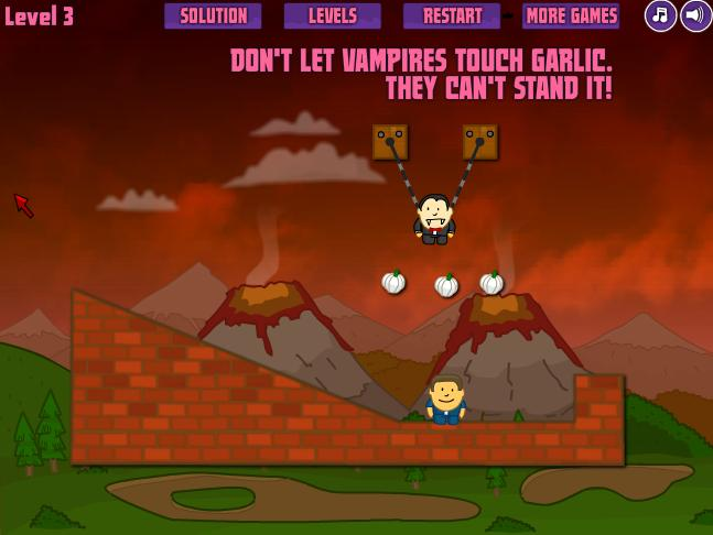 Игра Укусить вампиром онлайн