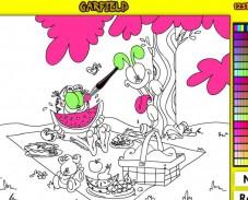 Игра Раскраска Гарфилд онлайн