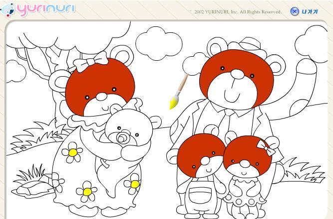Играть бесплатно в флеш игру раскраска мишки - играй онлайн