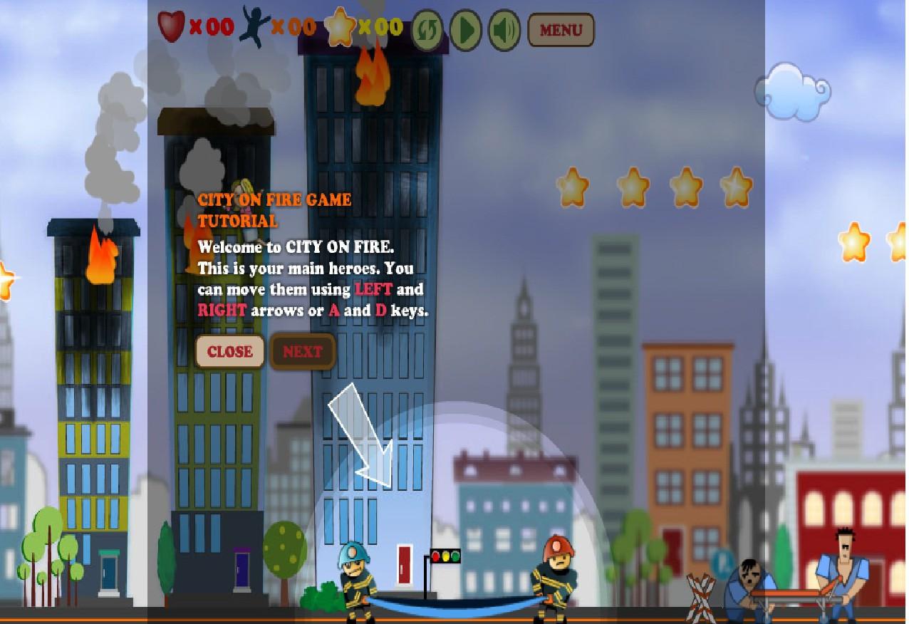 Игра Город в огне онлайн