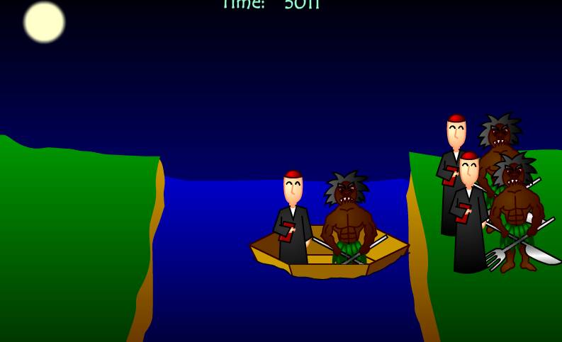 Игра Миссионеры и каннибалы онлайн