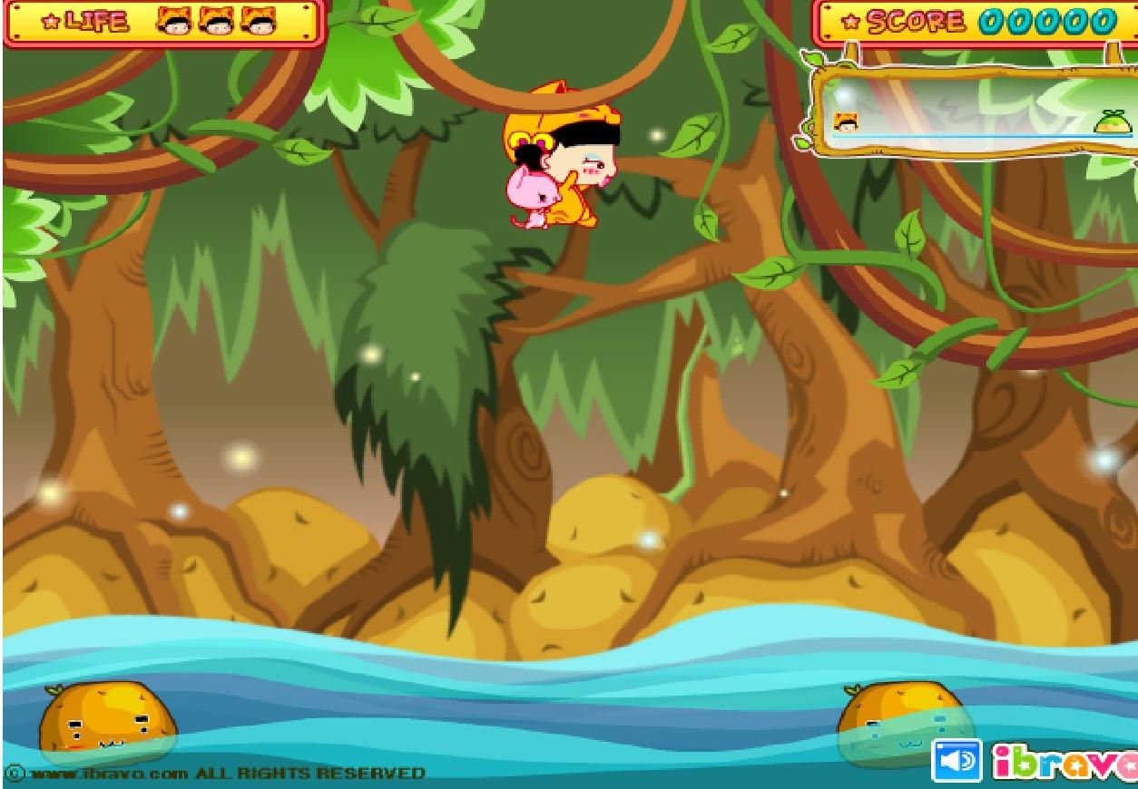 Игра Прыжки по тыквам онлайн