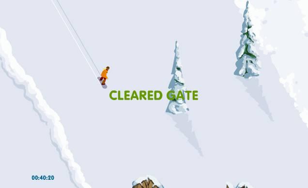 Игра Сноуборд с горы онлайн