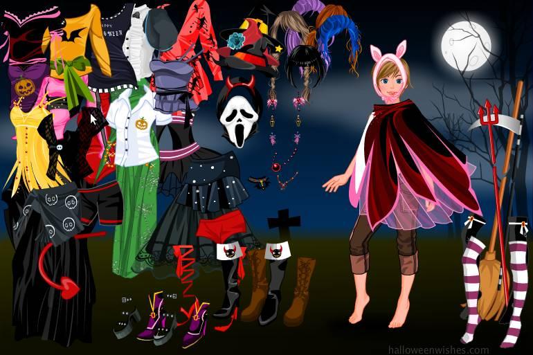 Игра Одевалка хэллоуин онлайн