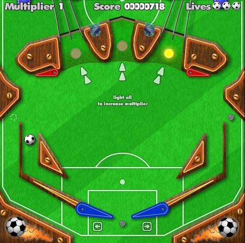 Игра Футбольный пинбол онлайн