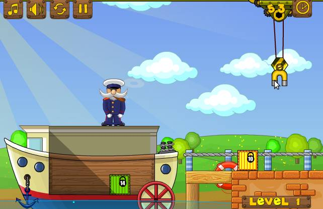 Игра Погрузка судна онлайн