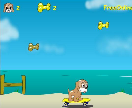 Игра Собака на скейте онлайн