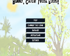 Игра Bunny, catch those eggs онлайн