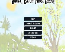 Игра Bunny, catch those eggs онлайн