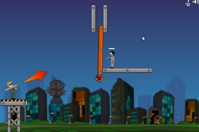 Игра Flaming Zombooka онлайн