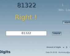 Игра Запомнить цифры онлайн